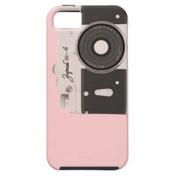 iPhone 5/5S, Vibe . pink vintage camera Case For iPhone 5/5S