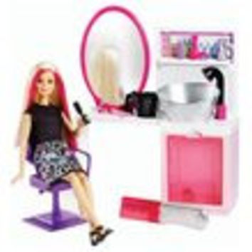 Barbie Sparkle Style Salon and Blonde Doll