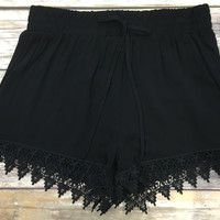 One Way Or Another Shorts: Black