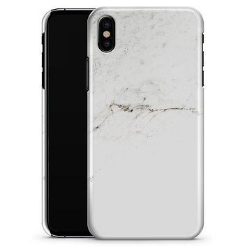 White Slight Grunge Marble Surface - iPhone X Clipit Case