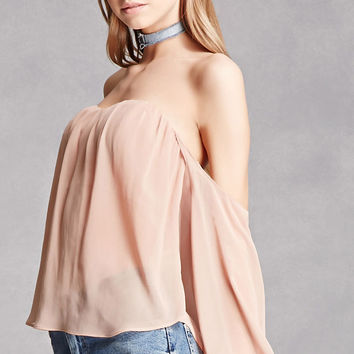 Sheer Off-the-Shoulder Top