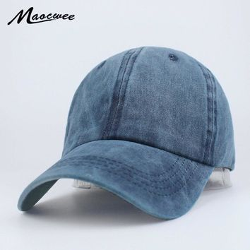 Trendy Winter Jacket Washed Cotton Baseball Navy Cap Hat Bone Snapback Solid Color Women Men Dad Caps Casual Adjustable New Designer Luxury Brand AT_92_12