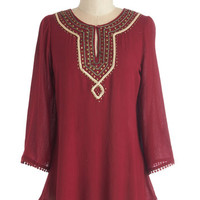 ModCloth Boho Long 3 Looking for Books Top
