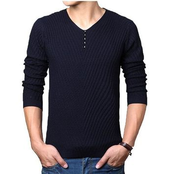 Spring autumn Brand men Casual sweater mens Cashmere Wool Pullover christmas sweater men Dress Knitted Sweater Clothing
