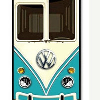 Cute kawaii blue mini bus volkswagen chrome logo Apple On iPhone 4 Case, iPhone 4s Case, iPhone 4 Hard Case, iPhone Case-iphone 4s cover