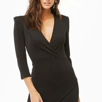 Surplice Bodycon Dress