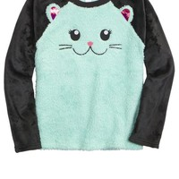 CAT FLEECE PAJAMA TOP | GIRLS PAJAMAS SLEEP & UNDIES | SHOP JUSTICE