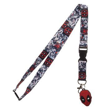 MPL Marvel Deadpool Lanyard,Black,Standard
