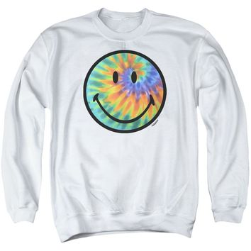 Smiley World - Tie Dye Face Adult Crewneck Sweatshirt