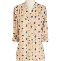 ModCloth Mid-length 3 Rise and Design Top