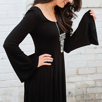 glance this way bell sleeve dress