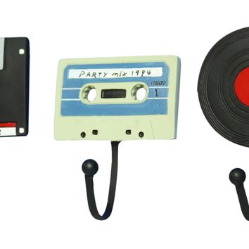 Oh! Trendy Classic Disc, Cassette and Record Wall Hangers