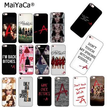 MaiYaCa Pretty Little Liars PLL TV Show Luxury Hybrid phone case for iPhone 8 7 6 6S Plus X XS MAX XR 10 5S 5S SE case Coque