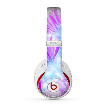 The Vibrant Blue & Purple Flower Field Skin for the Beats by Dre Studio (2013+ Version) Headphones