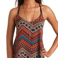 CHEVRON CRISS-CROSS TANK TOP