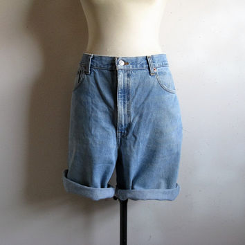 Vintage 1980s Levi Shorts Blue Denim LEVI STRAUSS Cut Off 516s Summer Jean Shorts 40W