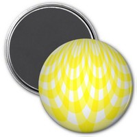 Curves Yellow Refrigerator Magnet