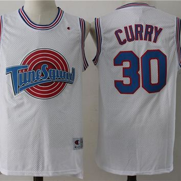 Space Jam 30 Curry Movie Basketball Jersey