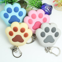 LED light Cat Paw Keychain With Sounds