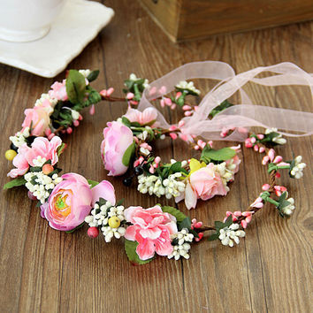 Stylish New Arrival Shiny Jewelry Gift Korean Vacation Headwear Floral Ring [6586111495]