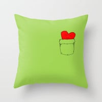 Pocket Love Throw Pillow by DanielBergerDesign