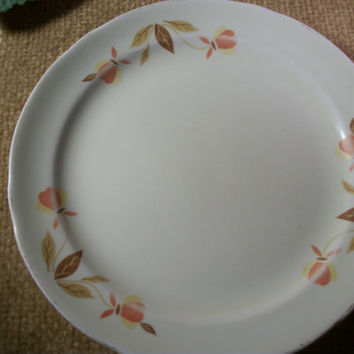 Plate Autumn Leaf Pattern Superior Hall Jewel Tea China Mary Dunbar Vintage Bread and Butter Dessert Accessory Dish Replacement Tableware