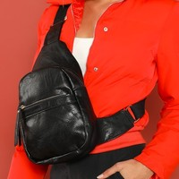 Dual Compartment Adjustable Shoulder And Bum Bag