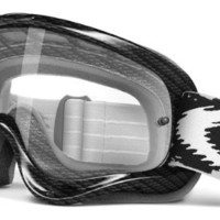 Oakley O-Frame Graphic Frame MX Goggles (True Carbon Fiber/Clear Lens, One Size)