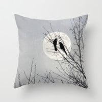 And We Talked All Night Throw Pillow by V. Sanderson / Chickens In The Trees