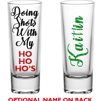 Custom Shot Glasses, Xmas Shot Glasses, Adult Funny shot glass, Xmas Gifts, Personalized Shot Glasses, Christmas Shot Glass Santa Shot Glass