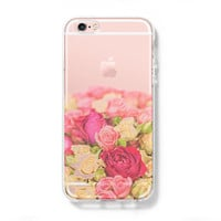 Flowers iPhone 6 Case iPhone 6s Plus Case Galaxy S6 Edge Clear Hard Case C148