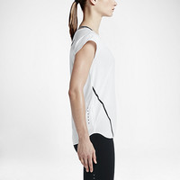 The Nike City Short-Sleeve Women's Running Top.