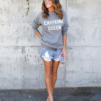 Letters Printed Long-Sleeved Sweater B0013400