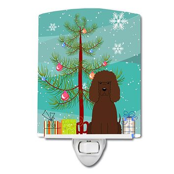 Merry Christmas Tree Irish Water Spaniel Ceramic Night Light BB4188CNL