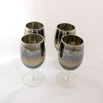 Dorothy Thorpe Era Silver Wine Glasses by bitofbutter on Etsy