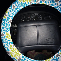 light blue light green flower steering wheel cover can add bow