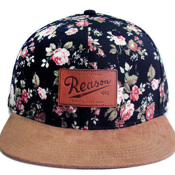 Reason Clothing   | Accessories & Hats    | Reason Fieldmaster Patch Cap-Floral