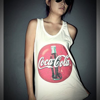 Coca Cola Coke Vintage Tank Top Shirt T-Shirt Women & Men Unisex Size S , M , L , XL