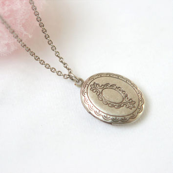 Little Oval Locket Necklace