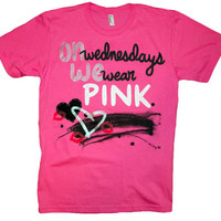 Mean Girls  On Wednesdays We Wear Pink TShirt XSXL by lovejonny