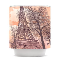 "Sam Posnick ""Eiffel Tower"" Shower Curtain"