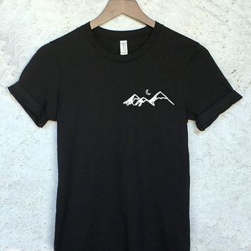 Mountains Hiking Shirt in Black