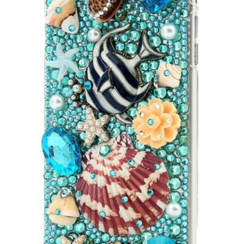 Handmade Rhinestone Sea Shell Case Handmade Bling Hard Protective iPhone Case