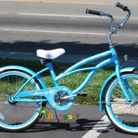 "J Bikes 20"" Beach Cruiser Bicycle Jetta Girls Kids Children Bike Baby Blue"