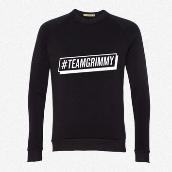 TEAMGRIMMY fleece crewneck sweatshirt