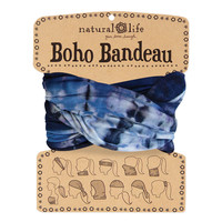 Boho Bandeau in Navy & Denim Tie-Dye by natural life
