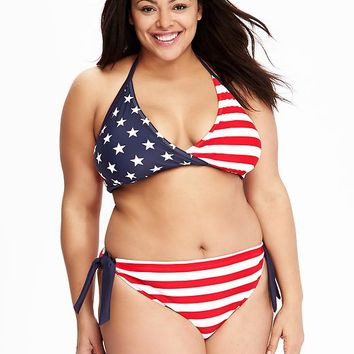 Old Navy Womens Plus Stars And Stripes Bikini Tops