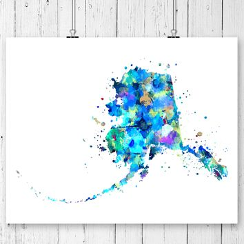 Alaska Map Art Print - Unframed