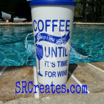 Coffee Keeps Me Going - Insulated Travel Coffee Cup - 16 oz Tumbler