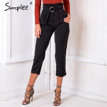 High-Waisted Cut-Off Trousers
